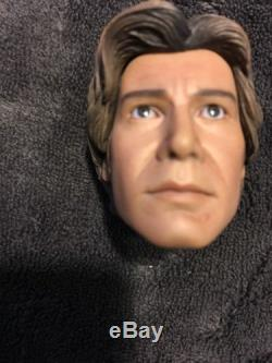 1/6 Han Solo Head for Hot Toys Sideshow For Custom Star Wars Figure