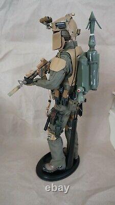 1/6 Star Wars Custom Boba Fett Mandalorian Like Green Wolf GalacTAC. No Hot Toys