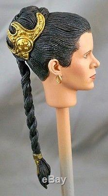 16 Custom Head of Carrie Fisher as Slave Leia from Star Wars Return of the Jedi