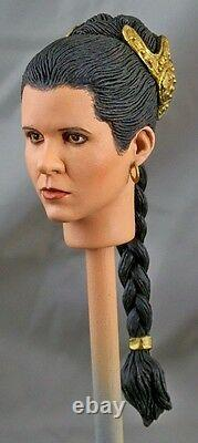 16 Custom Portrait of Carrie Fisher as Slave Leia from Return of the Jedi