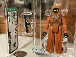 1977 Kenner Star Wars Vinyl Cape Jawa AFA 60 CIB Just Graded Custom Case READ