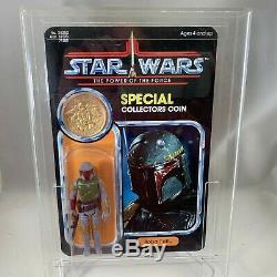1979 STAR WARS Vintage BOBA FETT Original Figure Custom POTF Cardback & Coin
