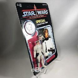 1985 STAR WARS Vintage LUKE SKYWALKER STORMTROOPER WITH COIN POTF MOC Custom
