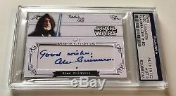 Alec Guinness Obi Wan Timeless Cuts STAR WARS Signed Custom CARD 1/1 PSA/DNA