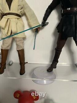 Anakin Skywalker + Obi Wan Kenobi 1/6 Star Wars Figure Custom Hot Toys Replica
