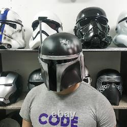 Black Custom Boba Fett Helmet from Star Wars