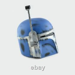 Blue Custom Boba Fett Helmet from Star Wars