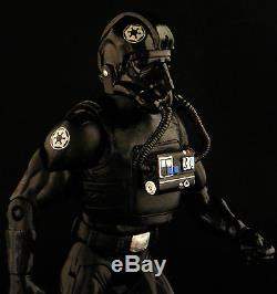 Custom Marvel Legends First Order Star Wars Black Series Imperial Tie Pilot 6