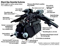 CUSTOM MOC Lego Star War Black OPs Gunship 7676 7163 75021 75046 75292 75309