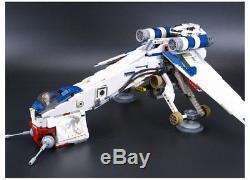 CUSTOM Star Wars Republic Dropship with AT-OT Walker Lego compatible