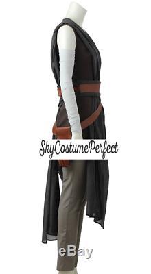CUSTOM TO U! FREE WW SHIP Star Wars The Last Jedi REY GREY SET Cosplay Costume