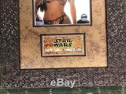 Carrie Fisher Signed Princess Leia Star Wars Photo Awesome Custom Framed JSA COA