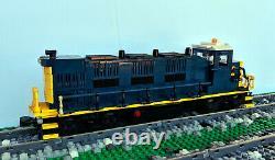 Custom CSX 3GS21B-DE Train Engine Locomotive Built With Lego Bricks