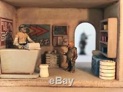 Custom DELUXE Tatooine Shop with Interior Playset Diorama Star Wars 118 3.75