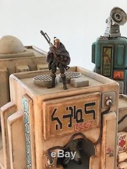 Custom Deluxe Tatooine Outpost Building Playset Diorama Star Wars 118 3.75
