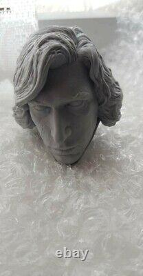 Custom Kylo Ren unmasked & unpainted 1/4 Scale Head Sculpt Fit Sideshow Statue