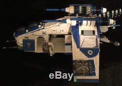 Custom Lego Compatible Star Wars 501st Gunship with Troops & Speeder
