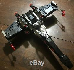 Custom Lego Star Wars Custom Black Ops X-Wing Fighter with Pilot
