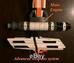 Custom Lego Star Wars Rebel War Ship Destroyer With two officers