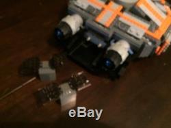 Custom Lego Star Wars Small Rebel Long Range Cargo Hauler with crew