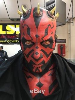 Custom Life Size Star Wars Darth Maul with Lightsaber and Light Up Base
