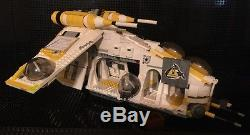 Custom MCS Star Wars 18th Armor Gunship with Crew and Speeder