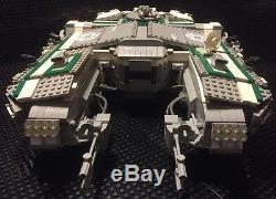 Custom MCS Star Wars Imperial Green/Grey Patrol Ship Hull # 191 with Crew