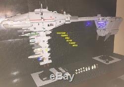 Custom MCS Star Wars Nebulon B Frigate With Crew! 4 Feet Long