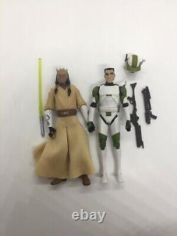Custom Phase II Captain Lock & Eeth Koth Figures Star Wars Clone Wars