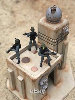 Custom Sci Fi Desert Outpost Playset Diorama Star Wars