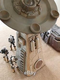 Custom Shield Generator Satellite Tower Playset Diorama Star Wars 118 3.75