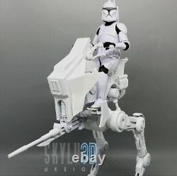 Custom Star Wars Clone Trooper AT-RT Walker Kit Black Series 6 1/12