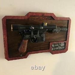 Custom Star Wars DL-44 Blaster Wood Display Mount