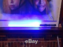 Custom Star Wars Lightsaber Dark Sentinel Obsidian V4 Sound Tri-Cree Blue LED