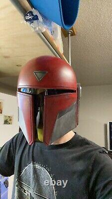 Custom Star Wars Mandalorian Cosplay Helmet Prop Bucket Warden Clone Wars