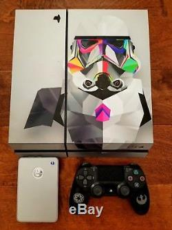 Custom Star Wars PlayStation 4 with 9 games, controller, and 1 TB external drive