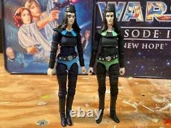Custom Star Wars Tonnika Sisters Brea & Senni Mos Eisley Cantina 3.75 Figure
