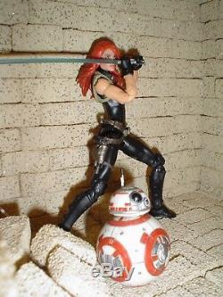 Custom Star Wars black series 6 Mara Jade New Jedi Order Emperor's Hand With BB