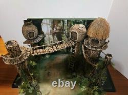 Custom Star Wars diorama Ewok Village for 3,75 figure