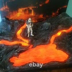Custom Star Wars diorama Mustafar