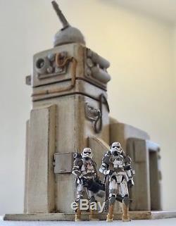 Custom Tatooine Gun Tower Outpost Playset Diorama Star Wars GI Joe 118 3.75