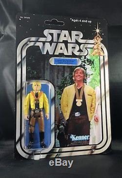 Custom Vintage Star-Wars 12 back Luke Skywalker Yavin Ceremony Figure