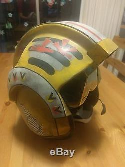 Custom X-Wing Pilot Helmet Red Leader Star Wars