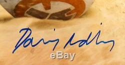 Daisy Ridley Signed & custom Framed to 23 by 27 STAR WARS Rey PSA/DNA ITP COA
