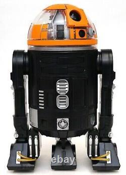 Disney Star Wars Galaxy's Edge Droid Depot Black Orange Custom 2 R2 Astromech