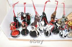 Disney Star Wars Mega 20pc Christmas Ornaments Custom Set Vader Jaba Boba Yoda