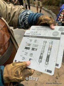 Disneyland Star Wars Galaxy's Edge Savi's Workshop Custom Built Lightsaber