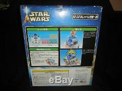 Extremely rare star wars r2d2 talking tomy japan pop-up lightsaber game