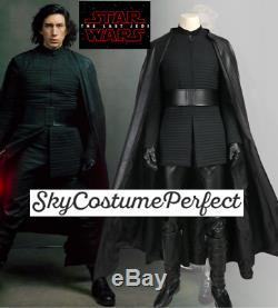 FREE WW SHIP Star Wars 8 The Last Jedi Kylo Ren CUSTOM Cosplay Costume SET BOOTS