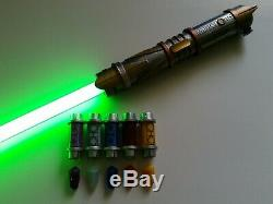 Galaxys Edge STAR WARS LIGHTSABER Jedi Saber 6 BONUS KYBER CRYSTAL Savis Custom